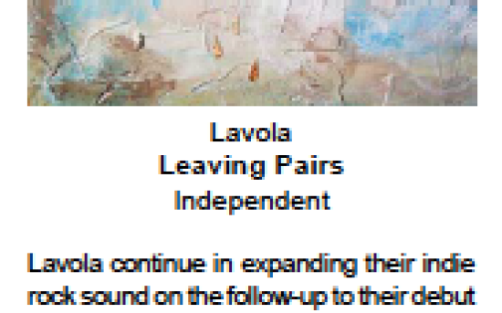 SFL Music Magazine – Album review of LAVOLA – Leaving Paris