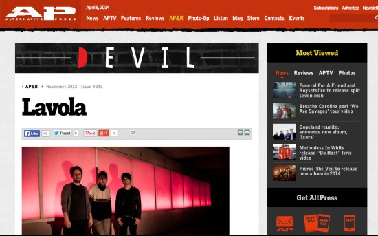 Alternative Press: Lavola